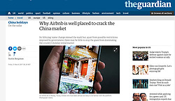 The Guardian; AirbnB in China