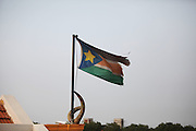 Workers prepare Garang Masoleum in Juba for Southern Sudan's independence ceremonies on July 9....