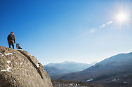 Man and his dog on Mountaintop