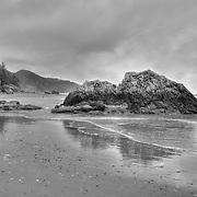 Whaleshead - Oregon Coast - HDR - Black & White