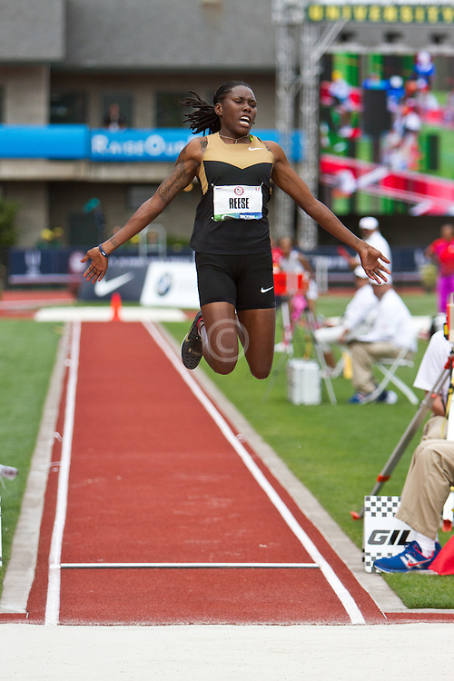 2012 USA Track & Field Olympic Trials: women's long jump, Brittany Reese, champion, Olympian, women's Long Jump