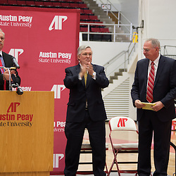 After serving 16 years as Austin Peay State University athletics director, Dave Loos stepped away from those duties, but will remain as the Governors head basketball coach.