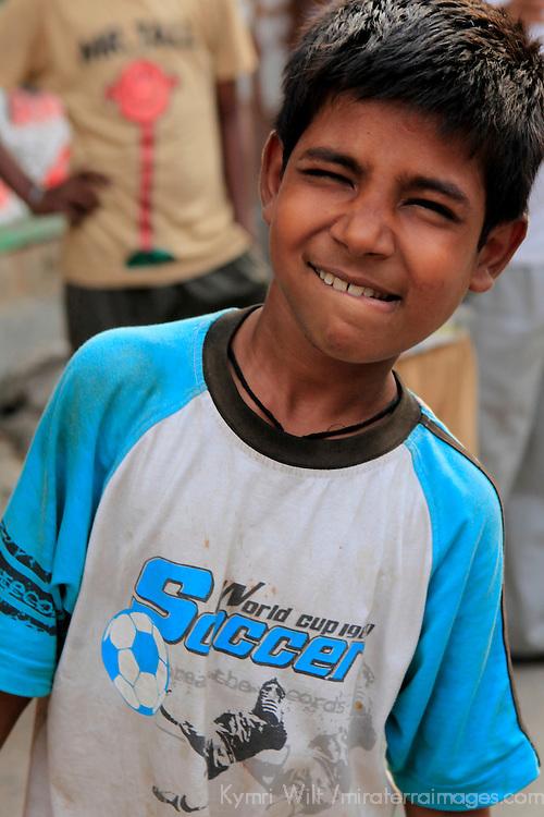 Asia, India, Calcutta. Young boy in Calcutta.
