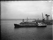 'Brilliant' Coal Boat departure from Alexandra Basin <br />02/12/1958