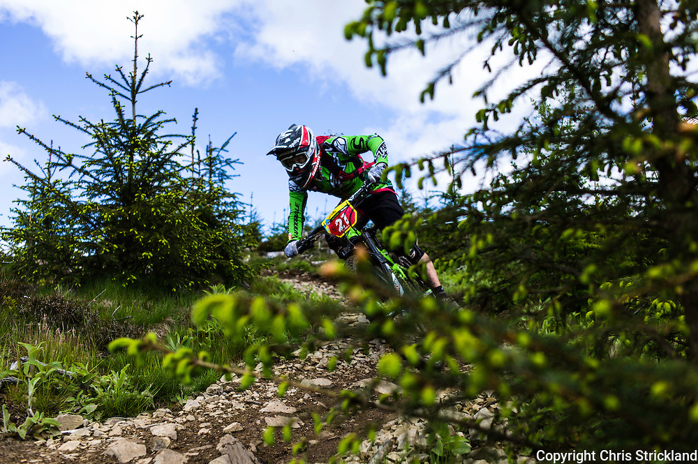 Glentress, Peebles, Scotland, UK. 31st May 2015. Jerome Clementz on the final stage at The Enduro World Series Round 3 taking place on the iconic 7Stanes trails during Tweedlove Festival.