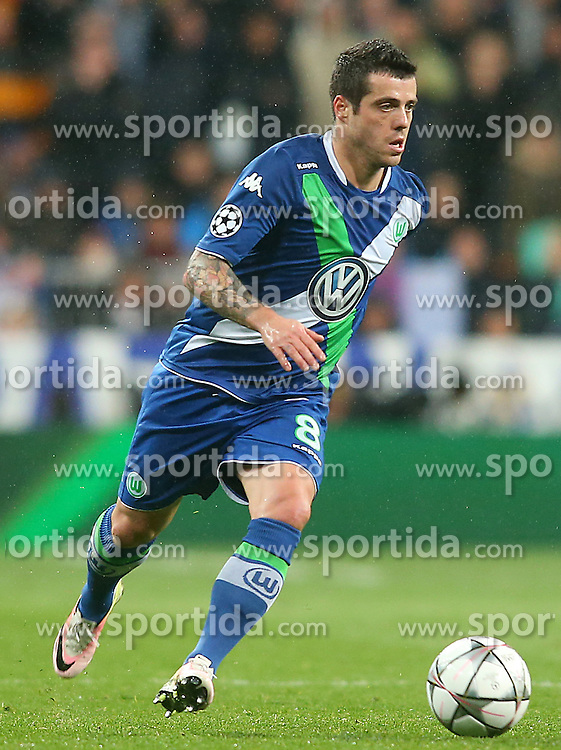12.04.2016, Estadio Santiago Bernabeu, Madrid, ESP, UEFA CL, Real Madrid vs VfL Wolfsburg, Viertelfinale, Rueckspiel, im Bild WfL Wolfsburg's Vieirinha // during the UEFA Champions League Quaterfinal, 2nd Leg match between Real Madrid and VfL Wolfsburg at the Estadio Santiago Bernabeu in Madrid, Spain on 2016/04/12. EXPA Pictures &copy; 2016, PhotoCredit: EXPA/ Alterphotos/ Acero<br /> <br /> *****ATTENTION - OUT of ESP, SUI*****