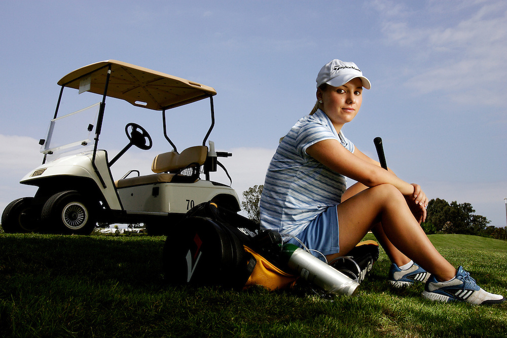 MacKinzie Kline suffers from a bad heart after being born with only one ventricle and battled the United States Golf Association to allow her use of a cart and her oxygen during competition. Photographed for Sports Illustrated