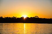 Brazil; Mato Grosso; Pantanal; Sunset