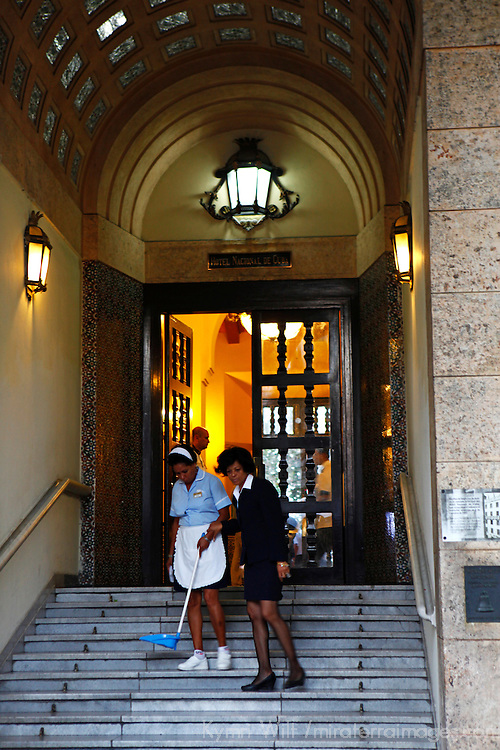 Central America, Cuba, Havana. Hotel Nacional de Cuba housekeepers.