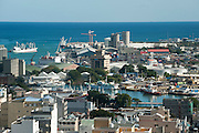 Mauritius. View over the city of Port Louis from Fort Adelaide,