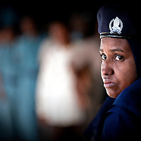 USE ARROWS &larr; &rarr; on your keyboard to navigate this slide-show<br /> <br /> Khartoum, Sudan, 11 April 2010<br /> A police woman monitors a polling station during the presidential elections in Sudan.<br /> Photo: Ezequiel Scagnetti