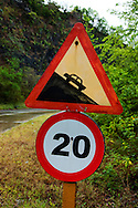 Sign on La Farola Highway, Guantanamo, Cuba.