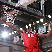 Maine Red Claws Guard LEVI RANDOLPH (20) drives to the basket for the easy lay-up in the first half of a NBA D-league regular season basketball game between the Delaware 87ers and the Maine Red Claws  Friday, Feb. 05, 2016 at The Bob Carpenter Sports Convocation Center in Newark, DEL.
