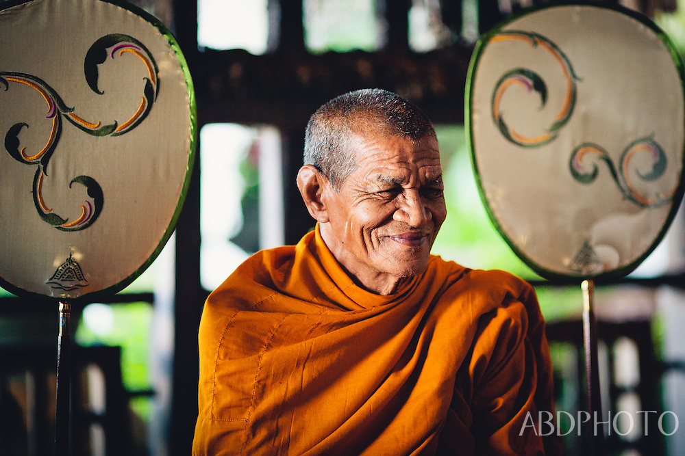Monks Praying in Krabi Rai Leh Beach Thailand