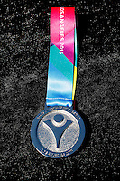 1 August 2015: Special Olympic World Games Los Angeles Sailing Finals in Long Beach, California.  Silver medal rewarded to athlete after earning it during competition.