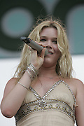 Manchester, TN, June 11, 2005; Joss Stone performs during The Bonnaroo 2005 Arts and Music Festival. Mandatory Credit: Photo by Bryan Rinnert. (©) Copyright 2005 by Bryan Rinnert