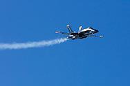 Blue Angels jet flyby during 2006 Fleet Week performance in San Francisco