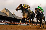 Street Sense with Calvin Borel up defeats Grasshopper and Robbie Albarado to win the Travers Stakes at Saratoga Race Course, Saratoga NY. 08.25.2006
