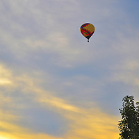 Hot Air Balloon over Ohio early in the morning.