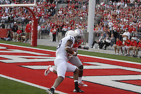 Justin Brown scores a touchdown on a 23 yard pass From Matthew McGloin in the Ohio State vs Penn State game on Nov. 13, 2010 at Ohio Stadium in Columbus, Ohio.