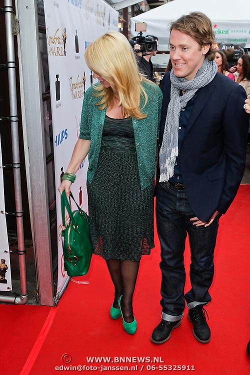 NLD/Amsterdam/20120312 - Uitreiking Rembrandt Awards 2012, Linda de Mol en partner Jeroen Rietbergen