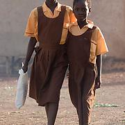 Children on their way to school in Savelugu, Ghana on Tuesday June 5, 2007.