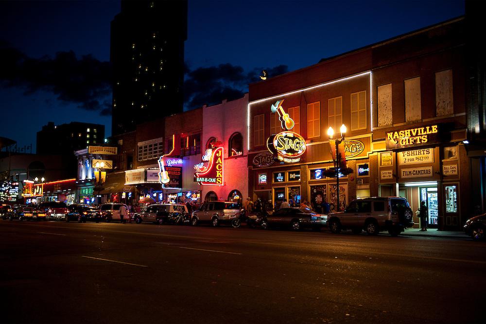 Lower Broadway Nashville TN