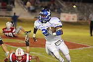 Water Valley's C.J. Jackson (26) runs vs. South Pontotoc in Pontotoc, Miss. on Friday, October 7, 2011. Water Valley won 49-7.