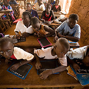 Children attend class at the Kabiline I Primary school in the village of Kabiline, Senegal on Wednesday June 13, 2007.....