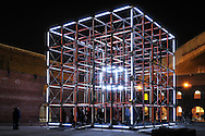 30-foot audiovisual cubic in Brooklyn, New York City.