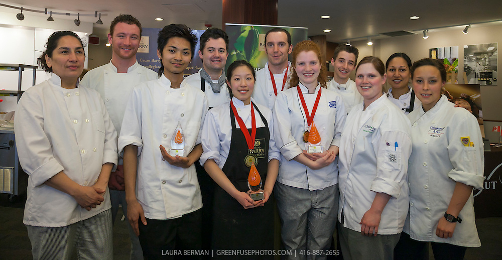 The competitors of the Cacao-Barry Callebaut Canadian Intercollegiate Chocolate Competition April 21 - 22, 2012.