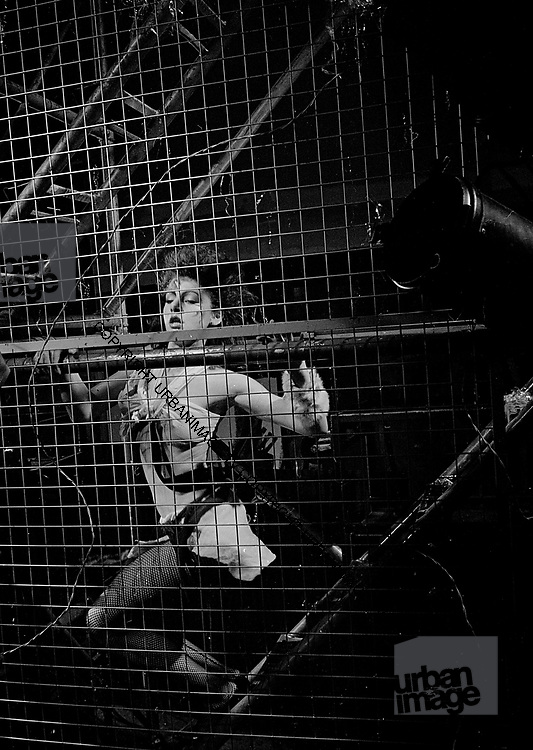 Cage Girl at DEf Leppard video shoot