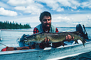 Alaska. Fishing for Northern Pike.