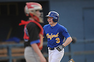 Oxford Middle School's Tyler Hallam (3) celebrates a two-run home run vs. Water Valley in Oxford, Miss. on Thursday, March 3, 2011.