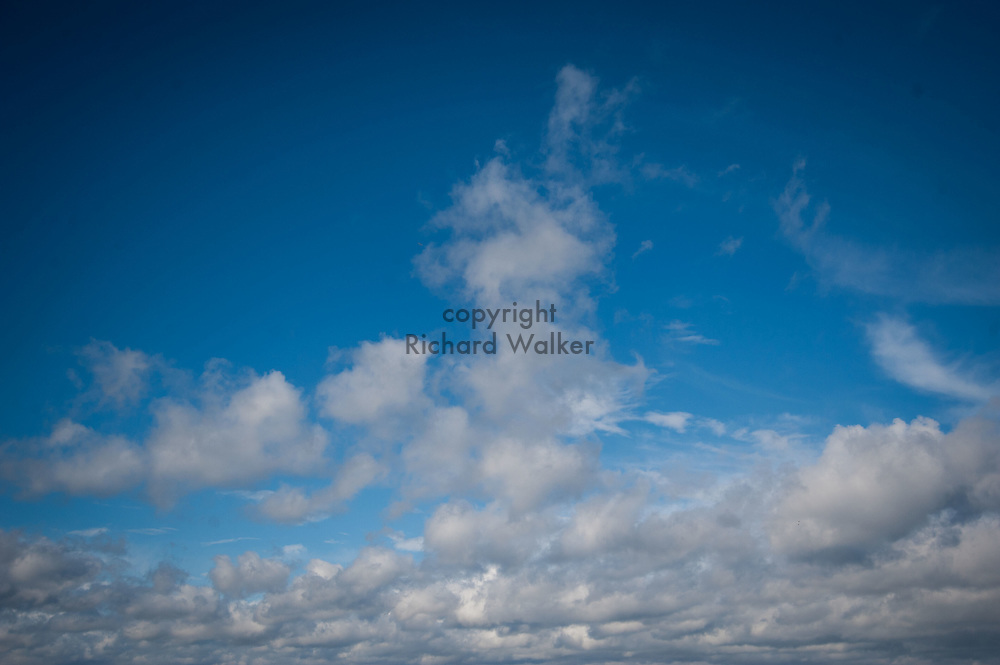 2016 October 18 - Clouds and blue sky above Alki, West Seattle, WA, USA. By Richard Walker