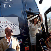 Rep. Michele Bachmann celebrates her victory in the Iowa Straw Poll Saturday, August 13, 2011, in Ames, Iowa (IA)...Photo by Khue Bui.