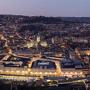 Bath panoramic city skyline