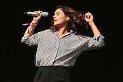 LONDON, ENGLAND - JULY 18:  Singer Jessie Ware performs live on the Main Stage during day two of Lovebox Festival 2015 at Victoria Park on July 18, 2015 in London, England.  (Photo by Simone Joyner/WireImage)