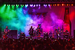 LONG BEACH, CA - APRIL 17 Mexican rock band Molotov rocked racing fans with a solid performance that kept them dacing away. 2015 April 17.  Byline, credit, TV usage, web usage or linkback must read SILVEXPHOTO.COM. Failure to byline correctly will incur double the agreed fee. Tel: +1 714 504 6870.