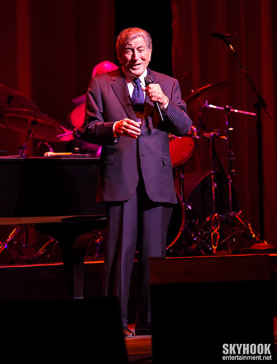 Tony Bennett appearing at the NJ Performing Arts Center in Newark, NJ, Sunday, January 27, 2013.  Photo: Rick Gilbert/Skyhookentertainment