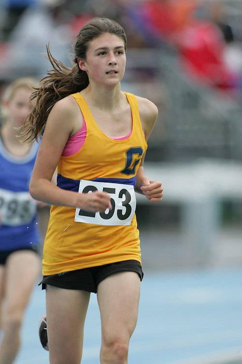 Bronwyn Hodgins competing in the 1500m at the 2007 Ontario Legion Track and Field Championships. The event was held in Ottawa on July 20 and 21.