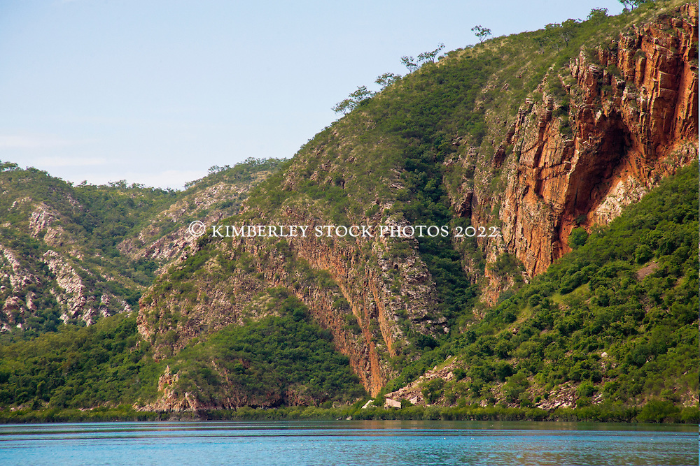Stunning geological formations in Cyclone Creek in Talbot Bay on the Kimberley coast.