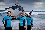 Tuna Campaign illustrative photographs.on Bondi Beach with Lifesavers from Bondi Rescue and Bondi Beach.