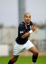 Falkirk's Farid El Alagui..Falkirk 1 v 0 Queen of the South, 15/10/2011..Pic © Michael Schofield.