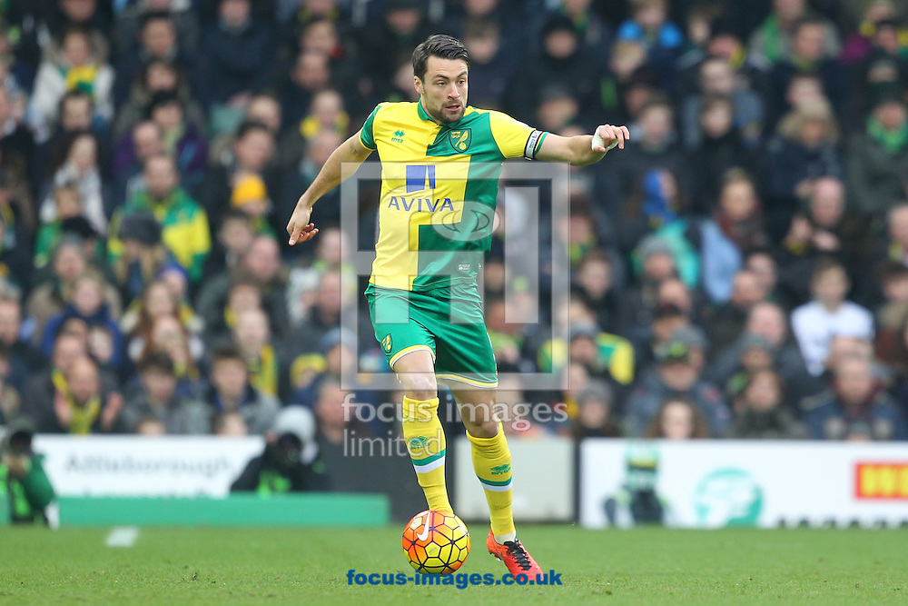 Russell Martin of Norwich in action during the Barclays Premier League match at Carrow Road, Norwich<br /> Picture by Paul Chesterton/Focus Images Ltd +44 7904 640267<br /> 13/02/2016