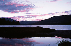 &quot;Donner Lake Sunset 1&quot;- Photographed from the east end of Donner Lake, facing west.<br />