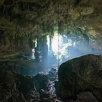 Poles in Miri Caves, Miri, Sarawak, Malaysia, Borneo,