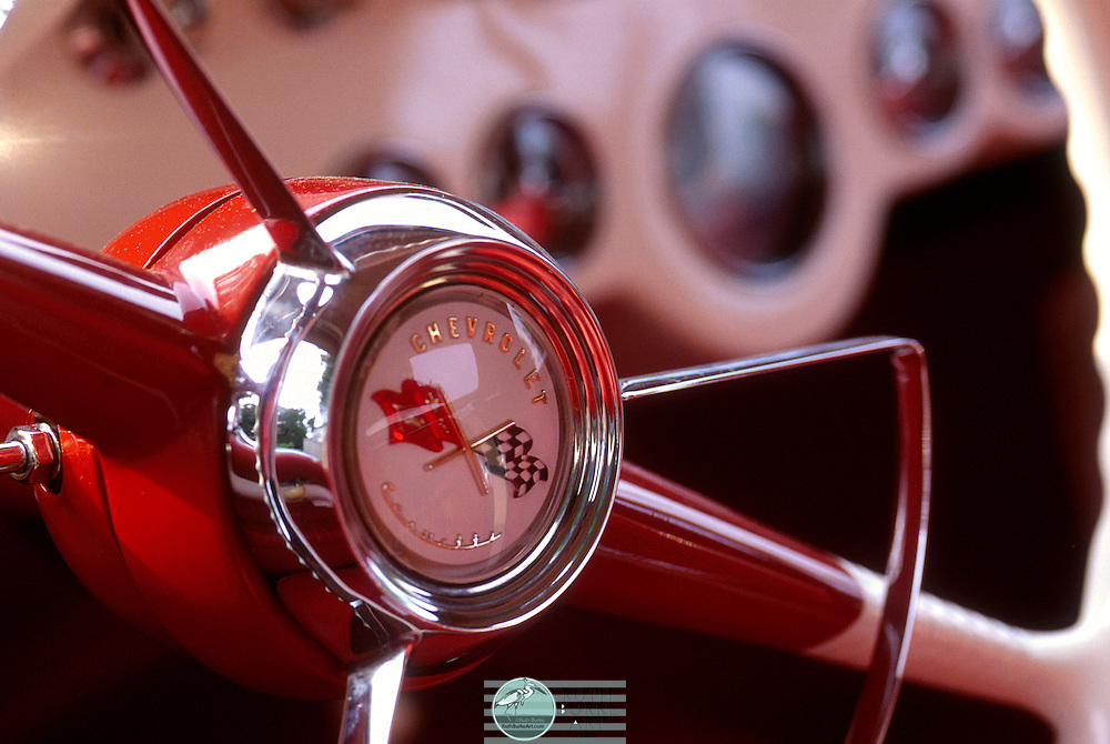 1060s Chevrolet Corvette Steering wheel tif  Ruth Burke Art