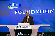 SIFMA Foundation's NASDAQ Closing Bell Ceremony on November 11, 2014.  SIFMA Foundation's NASDAQ Closing Bell Ceremony on November 11, 2014.  SIFMA Foundation has recently received a grant from the Nasdaq Educational Foundation. In honor of the occasion, the SIFMA Foundation board of directors, along with four NYC public school 5th graders who invested for success in The Stock Market Game, will ring the Closing Bell.  (Photo: www.JeffreyHolmes.com)
