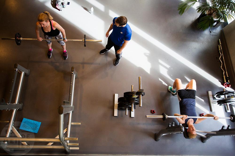 In Amsterdam trainen Iris Slappendel (rechts) en Aniek Rooderkerken (links) op de VU. In september wil het Human Power Team Delft en Amsterdam, dat bestaat uit studenten van de TU Delft en de VU Amsterdam, tijdens de World Human Powered Speed Challenge in Nevada een poging doen het wereldrecord snelfietsen voor vrouwen te verbreken met de VeloX 7, een gestroomlijnde ligfiets. Het record is met 121,44 km/h sinds 2009 in handen van de Francaise Barbara Buatois. De Canadees Todd Reichert is de snelste man met 144,17 km/h sinds 2016.<br /> <br /> With the VeloX 7, a special recumbent bike, the Human Power Team Delft and Amsterdam, consisting of students of the TU Delft and the VU Amsterdam, also wants to set a new woman's world record cycling in September at the World Human Powered Speed Challenge in Nevada. The current speed record is 121,44 km/h, set in 2009 by Barbara Buatois. The fastest man is Todd Reichert with 144,17 km/h.